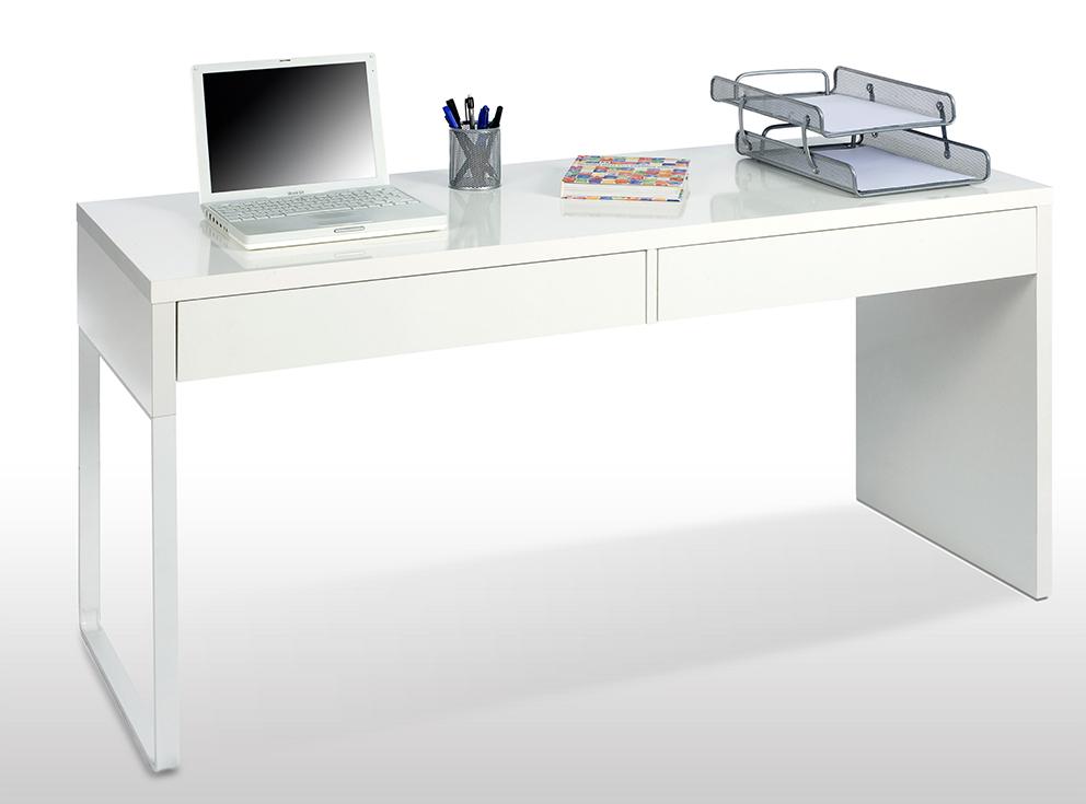 Mesa escritorio blanco brillo